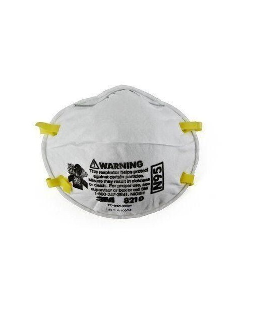 3M Standard N95 8210 Disposable Particulate Respirator